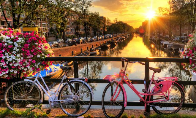 Amsterdam fete des tulipes